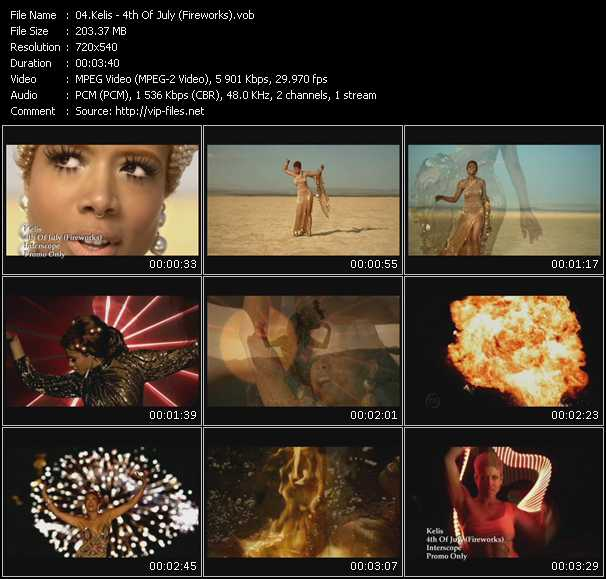 Kelis video - 4th Of July (Fireworks)