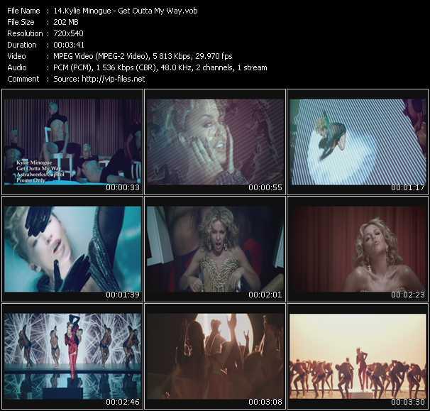 Kylie Minogue video - Get Outta My Way