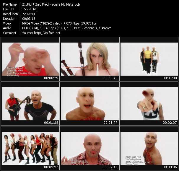 Right Said Fred video - You're My Mate