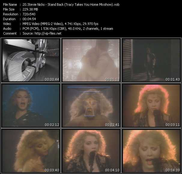 Stevie Nicks video - Stand Back (Tracy Takes You Home Mixshow)
