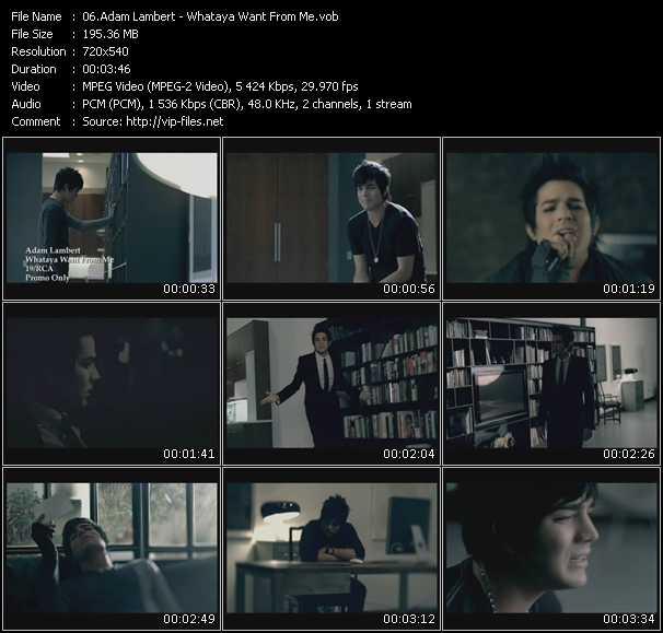 Adam Lambert video - Whataya Want From Me