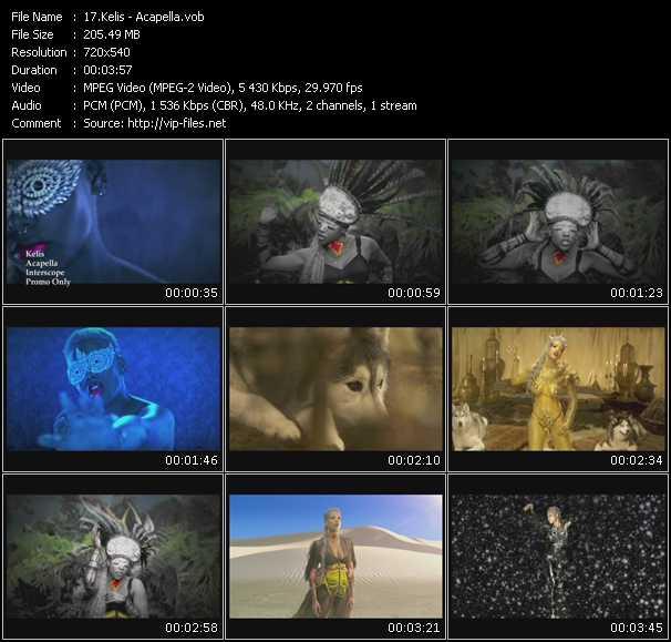Kelis video - Acapella