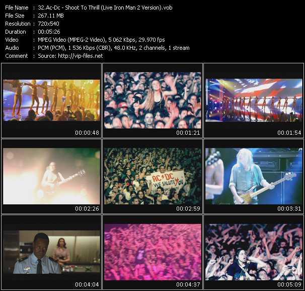 Ac-Dc video - Shoot To Thrill (Live Iron Man 2 Version)