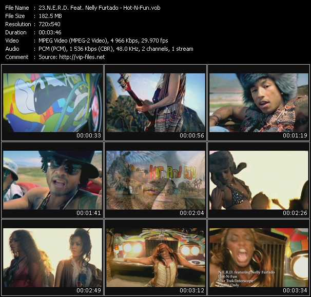 N.E.R.D. Feat. Nelly Furtado video - Hot-N-Fun
