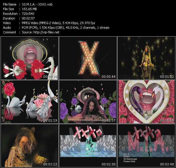 M.I.A. video - XXXO
