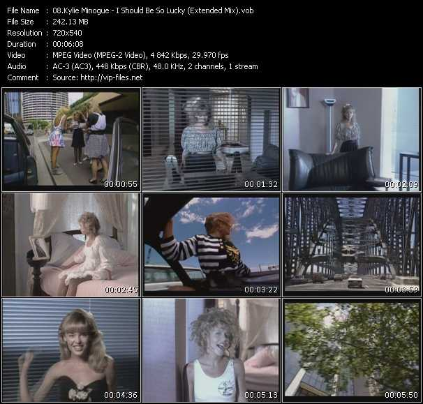 Kylie Minogue video - I Should Be So Lucky (Extended Mix)