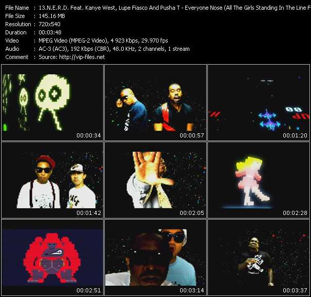 N.E.R.D. Feat. Kanye West, Lupe Fiasco And Pusha T music video Publish2