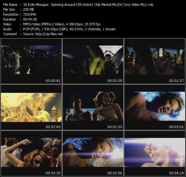 Kylie Minogue video - Spinning Around (7th District Club Mental Mix) (Vj Tony Video Mix)