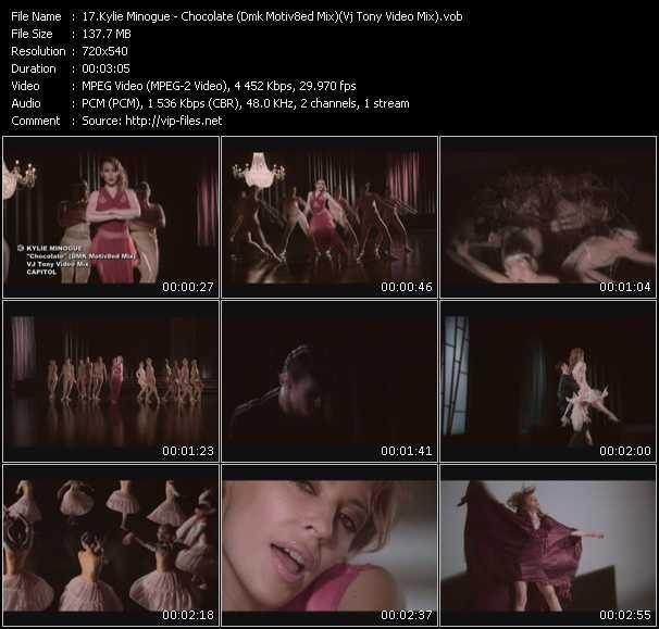 Kylie Minogue video - Chocolate (Dmk Motiv8ed Mix) (Vj Tony Video Mix)