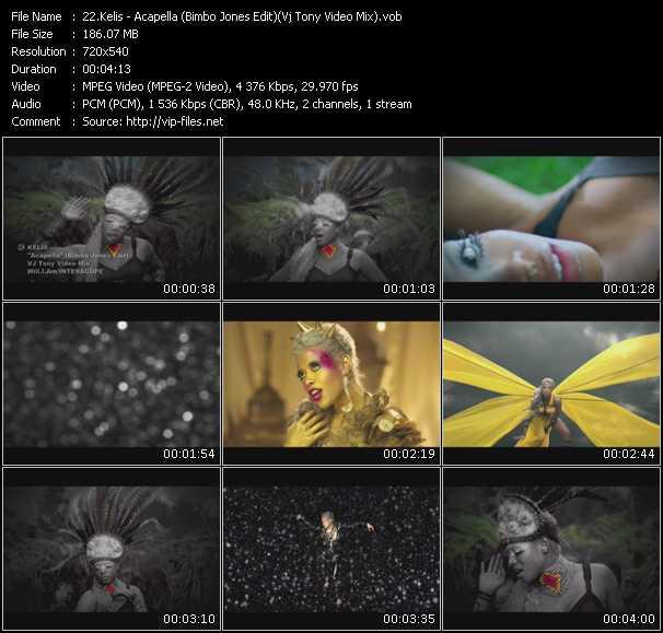 Kelis video - Acapella (Bimbo Jones Edit) (Vj Tony Video Mix)