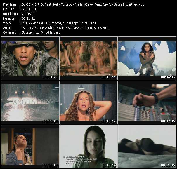 N.E.R.D. Feat. Nelly Furtado - Mariah Carey Feat. Ne-Yo - Jesse McCartney music video Publish2