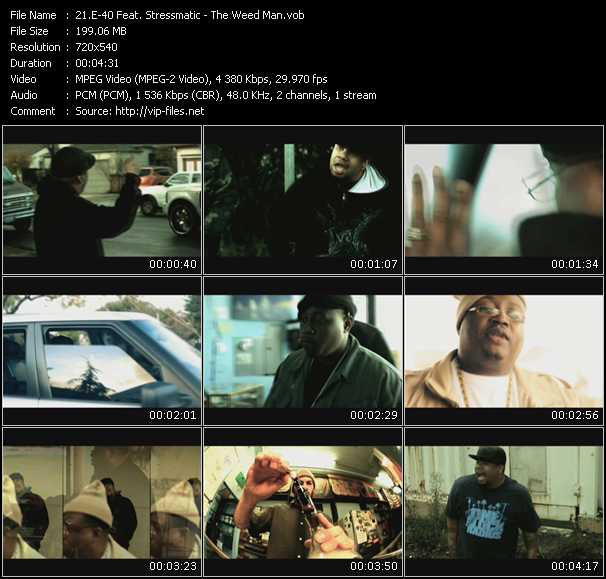 E-40 Feat. Stressmatic video - The Weed Man