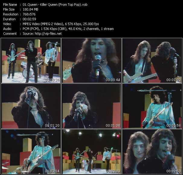 Queen video - Killer Queen (From Top Pop)