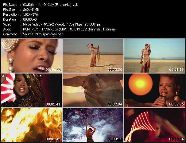 Kelis video - 4th Of July (Fireworks)