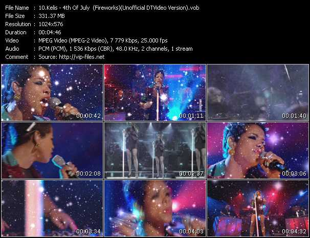 Kelis video - 4th Of July (Fireworks) (Unofficial DTVideo Version)