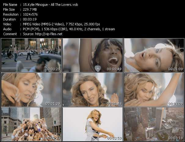 Kylie Minogue video - All The Lovers