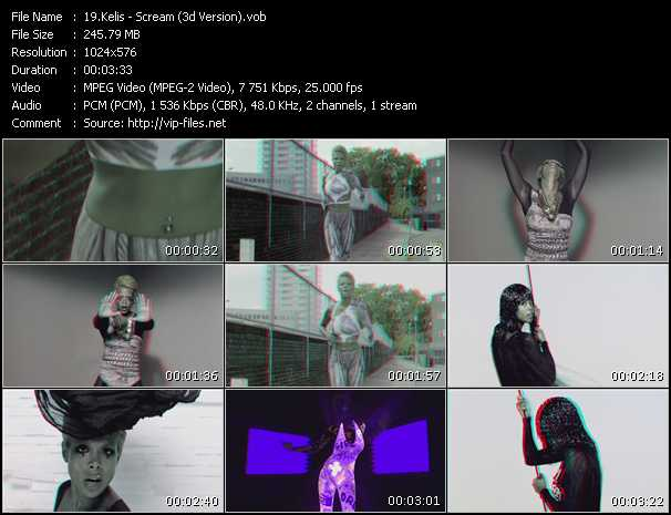 Kelis video - Scream (3D Version)