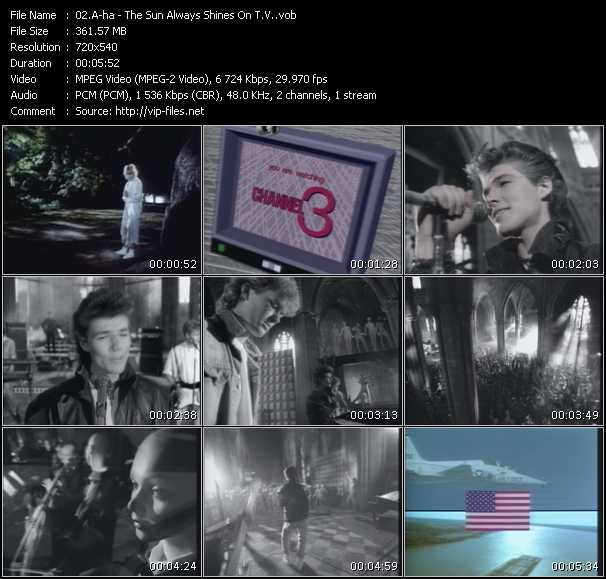 A-Ha video - The Sun Always Shines On T.V.