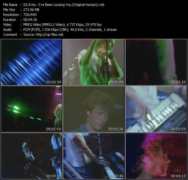 A-Ha video - I've Been Loosing You (Original Version)