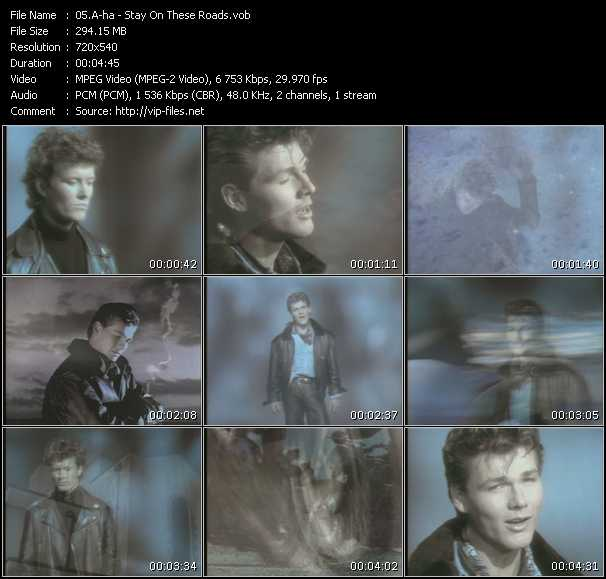 A-Ha video - Stay On These Roads