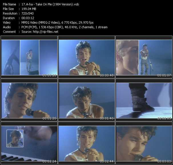 A-Ha video - Take On Me (1984 Version)