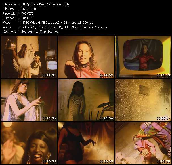 Dj Bobo video - Keep On Dancing