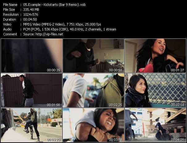 Example video - Kickstarts (Bar 9 Remix)