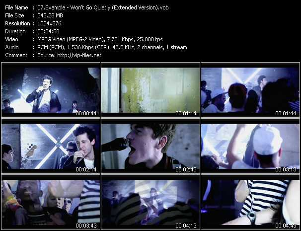 Example video - Won't Go Quietly (Extended Version)