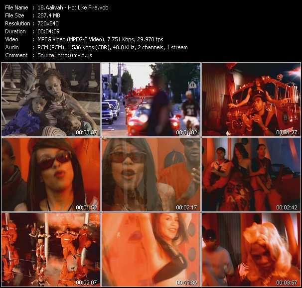 Aaliyah video - Hot Like Fire
