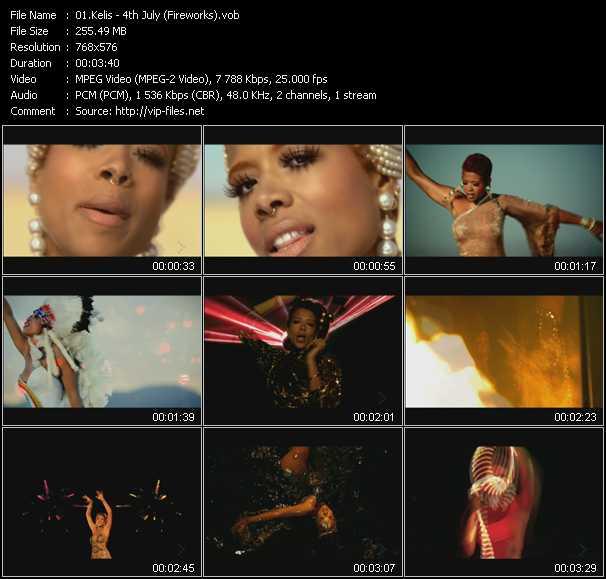 Kelis video - 4th July (Fireworks)