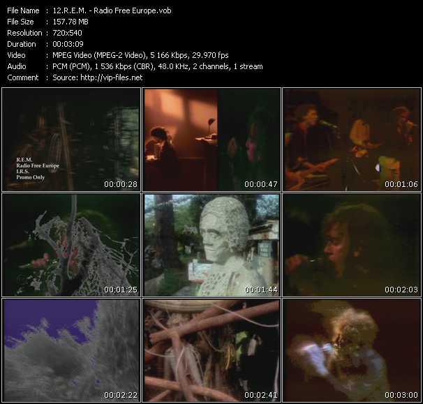 R.E.M. video - Radio Free Europe