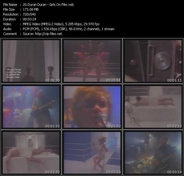 Duran Duran video - Girls On Film