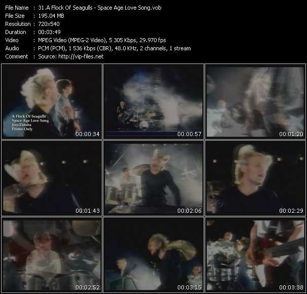 A Flock Of Seagulls music video Fboom