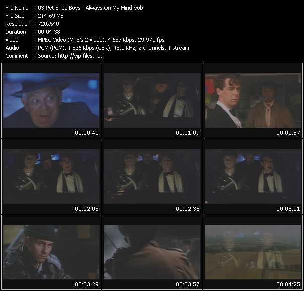 Pet Shop Boys video - Always On My Mind