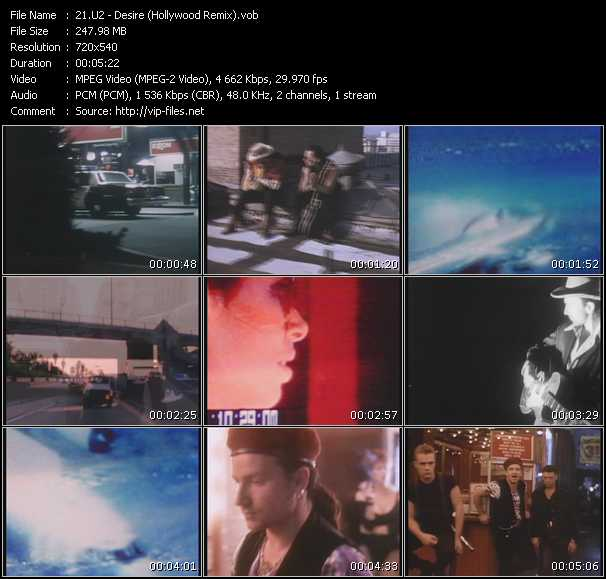 U2 video - Desire (Hollywood Remix)