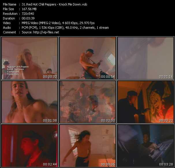 Red Hot Chili Peppers video - Knock Me Down