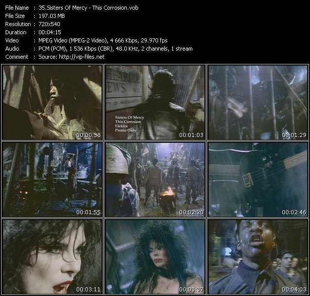 Sisters Of Mercy video - This Corrosion
