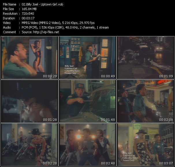 Billy Joel video - Uptown Girl