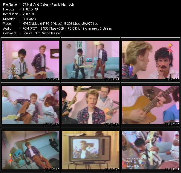 Hall And Oates (Daryl Hall And John Oates) video - Family Man
