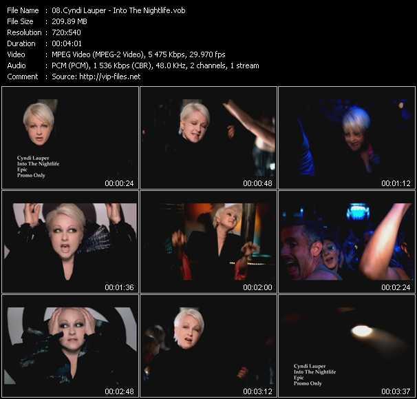 Cyndi Lauper video - Into The Nightlife