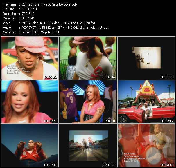 Faith Evans video - You Gets No Love