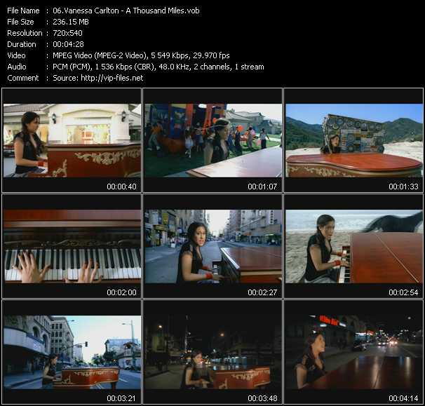 Vanessa Carlton video - A Thousand Miles