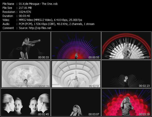 Kylie Minogue video - The One