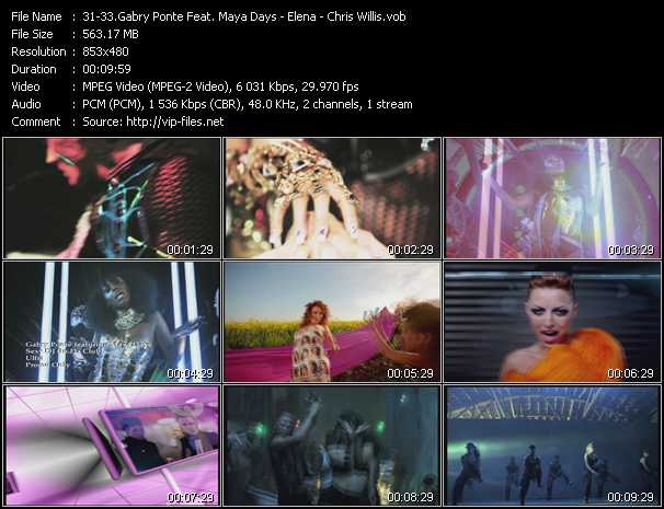 Gabry Ponte Feat. Maya Days - Elena - Chris Willis music video Publish2