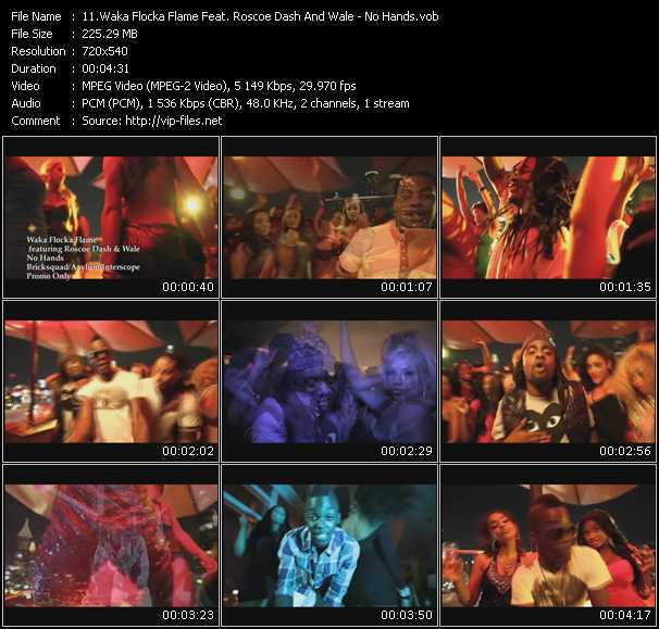 Waka Flocka Flame Feat. Roscoe Dash And Wale video - No Hands