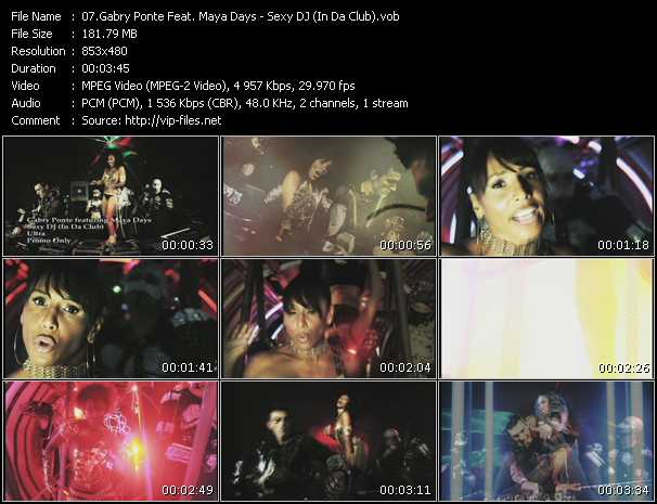 Gabry Ponte Feat. Maya Days video - Sexy DJ (In Da Club)