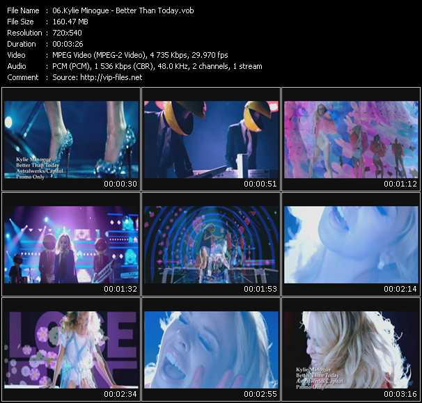 Kylie Minogue video - Better Than Today