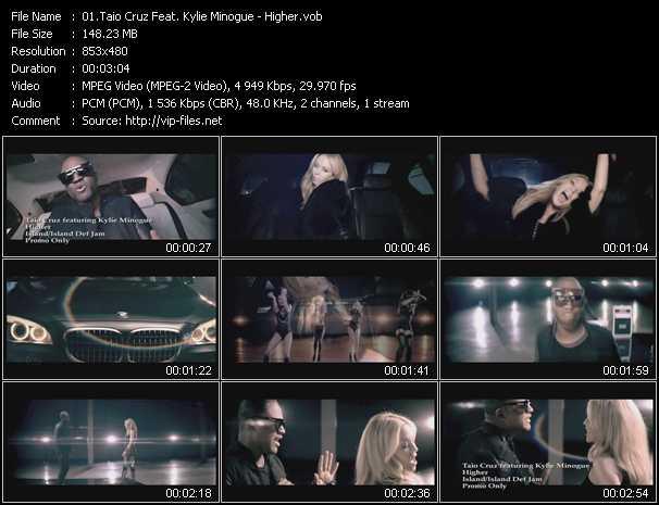 Taio Cruz Feat. Kylie Minogue video - Higher