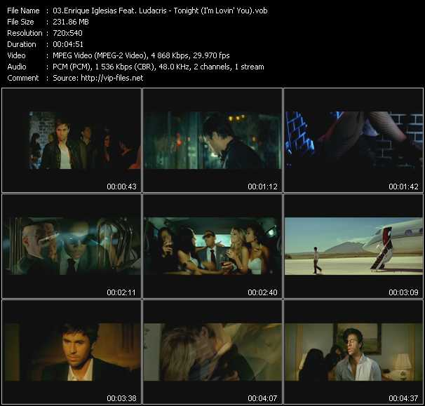 Enrique Iglesias Feat. Ludacris video - Tonight (I'm Lovin' You)