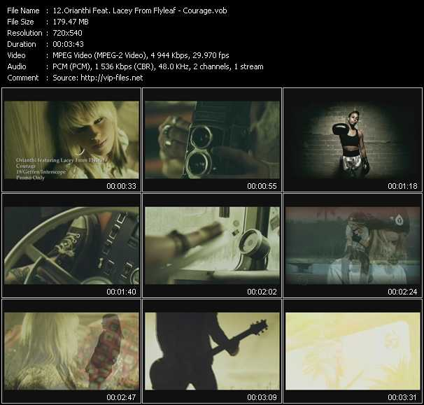 Orianthi Feat. Lacey From Flyleaf video - Courage